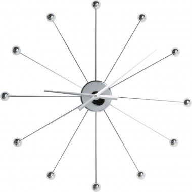 Wall Clock Like Umbrella Balls Chrome Kare Design