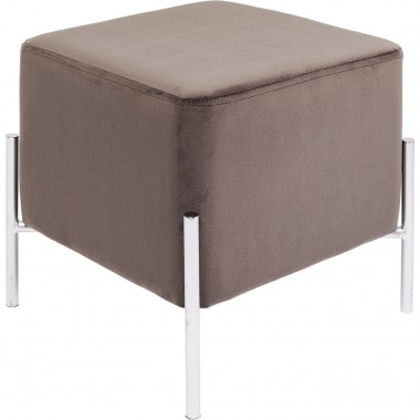 Stool Franzi Brown Silver 37x37cm Kare Design