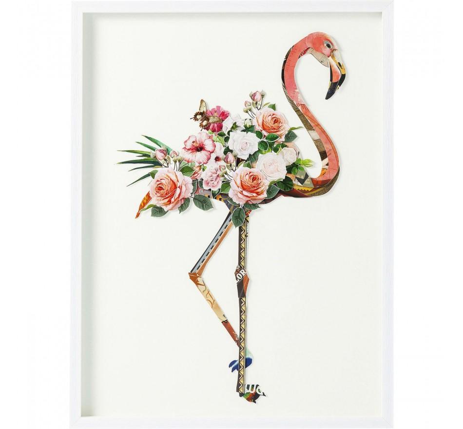 Tableau Frame Art Flamingo 100x75cm Kare Design