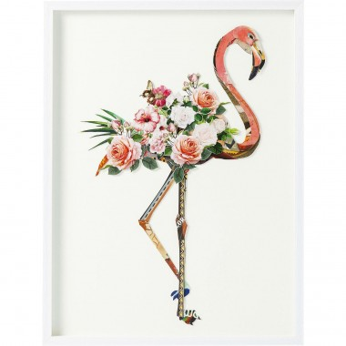 Picture Frame Art Flamingo 100x75cm Kare Design