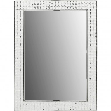 Miroir Crystals Steel chrome 80x60cm Kare Design