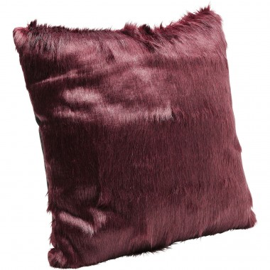 Cushion Ontario Fur Dark Red 60x60cm Kare Design