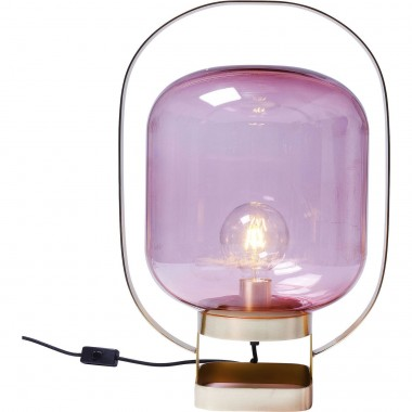 Lampe de table Jupiter fuchsia et laiton Kare Design