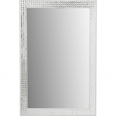 Mirror Crystals Steel White 80x60cm Kare Design