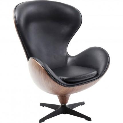 Swivel Chair Lounge Black Walnut Kare Design