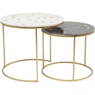 Side Table Mystic Round Small (2/Set) Ø61cm Kare Design