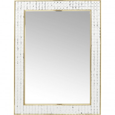 Mirror Crystals Steel Gold 80x60cm Kare Design