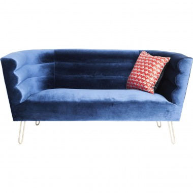 Sofa Monaco Blue 2-Seater 160cm Kare Design