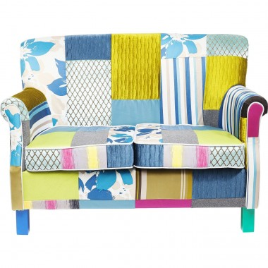 Sofa Patchwork Stripes 2-Seater Kare Design