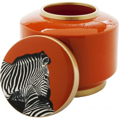 Deco Jar Zebra Orange 19cm Kare Design