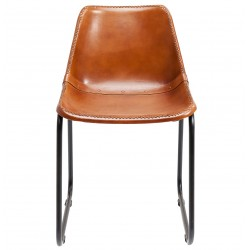 Chair Vintage Brown Leather Kare Design