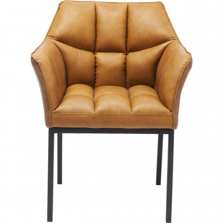 Chair with Armrest Thinktank Brown Kare Design