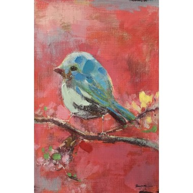 Picture Touched Bird Red Back 60x40cm Kare Design
