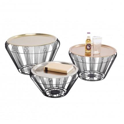 Table basse Bora Wire Set de 3 Kare Design