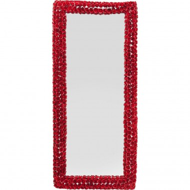 Mirror Rose Rectangular Red 180x80cm Kare Design