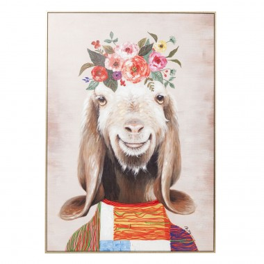 Picture Touched Flowers Goat 102x72cm Kare Design