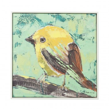 Picture Touched Bird Green Back 40x40cm Kare Design