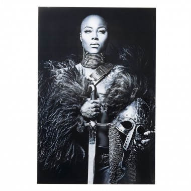 Picture Glass Lady Knight 150x100cm Kare Design