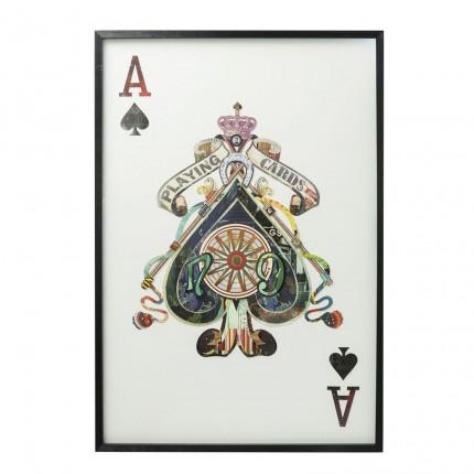 Tableau Frame Art Card Ace 145x100cm Kare Design
