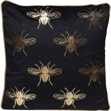 Cushion Bee Black 45x45cm Kare Design