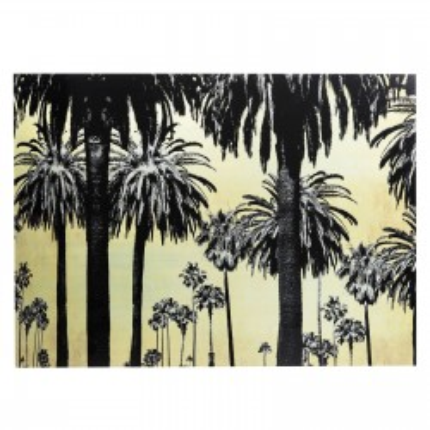 Picture Glass Metallic Palms 120x180cm Kare Design