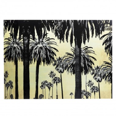 Picture Glass Metallic Palms 120x180cm Kare Design