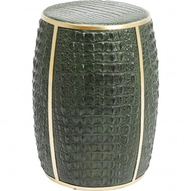 Side Table Croco Green 46cm Kare Design