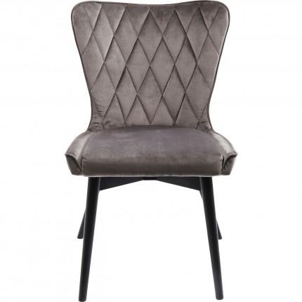 Chair Black Marshall Velvet Grey Kare Design
