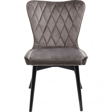 Chair Black Marshall Velvet Grey Kare Design
