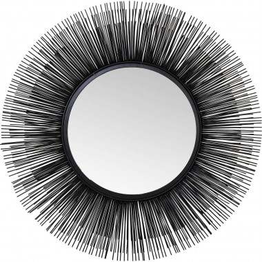Mirror Sunburst Tre Black Ø87cm Kare Design