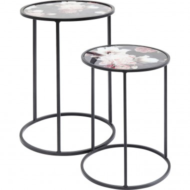 Side Table Peony (2/Set) Ø32,5cm Kare Design