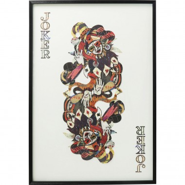 Tableau Frame Art Joker 145x100cm Kare Design