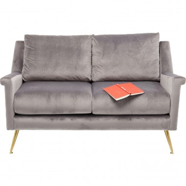 Sofa San Diego 2-Seater Grey 145cm Kare Design
