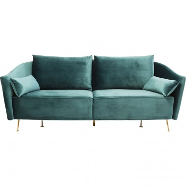Sofa Vegas Forever Bluegreen 3-Seater Kare Design