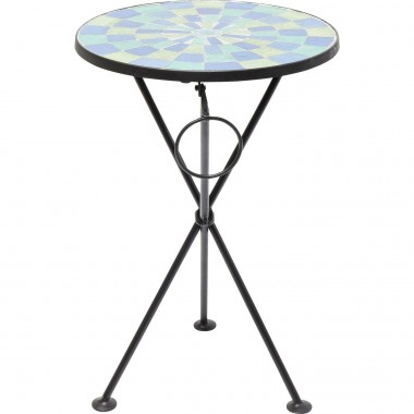 Side Table Clack Mosaic Blue Green Ø36cm Kare Design