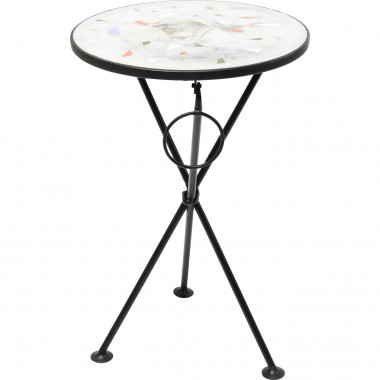 Side Table Clack Mosaic Multi Stone Ø36cm Kare Design