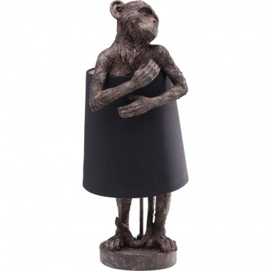 Table Lamp Animal Monkey Brown Black Kare Design
