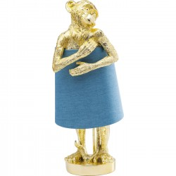 Table Lamp Animal Monkey Gold Blue Kare Design