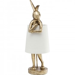 Table Lamp Animal Rabbit Gold Kare Design