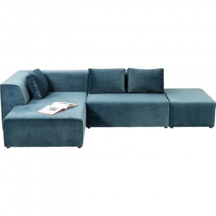 Canapé d'angle Infinity gauche velours ocean Kare Design