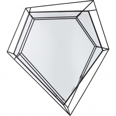 Mirror Wire Diamond Schwarz 104x92cm Kare Design