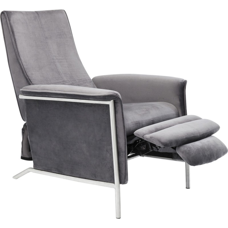 Design Relax Fauteuil.Contemporary Grey Velvet Relax Armchair Lazy Kare Design