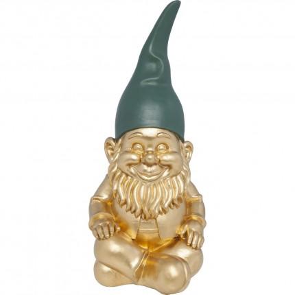 Deco Figurine Zwerg Sitting Gold 42cm Kare Design