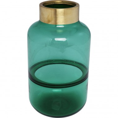 Vase Positano Belly Green 28cm Kare Design