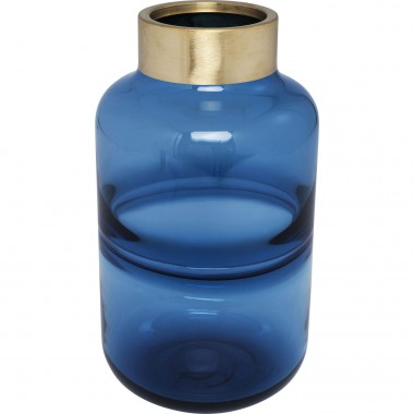 Vase Positano Belly Blue 28cm Kare Design