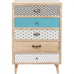 Commode Capri 5 tiroirs 60cm Kare Design