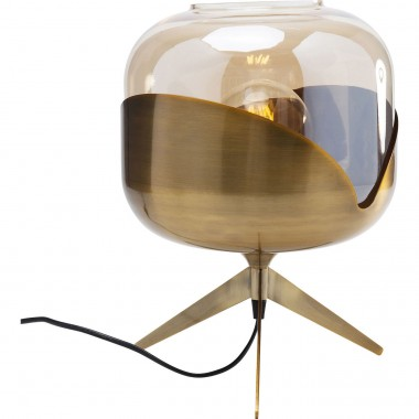 Table Lamp Golden Goblet Ball Kare Design