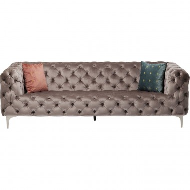 Sofa Look 230cm Velvet Grey Kare Design
