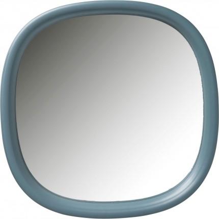 Miroir Salto bleu-vert 100x100cm Kare Design