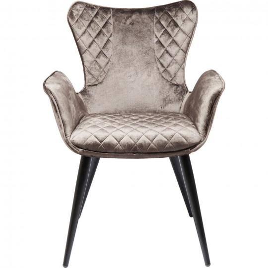 Chair with Armrest Dream Brown Kare Design